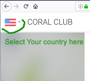 How to select your country